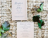 100 Vintage Wedding Programs - Kraft Programs - Vintage Programs - Booklet Programs - The Stella - Order of Ceremony - Calligraphy