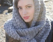 Infinity Scarf CROCHET PATTERN: with Boot Cuffs, Women's Fashion Accessories