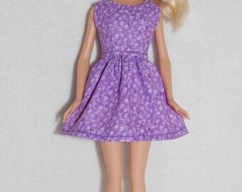 "Barbie doll dress light purple A4B061  11.5"" fashion doll clothes"