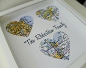 Wedding Gifts for Parents Personalized Map Art Parents Wedding Gift FRAMED ART Wedding Gift for Mom Wedding Gift for Dad Wedding Day Gift