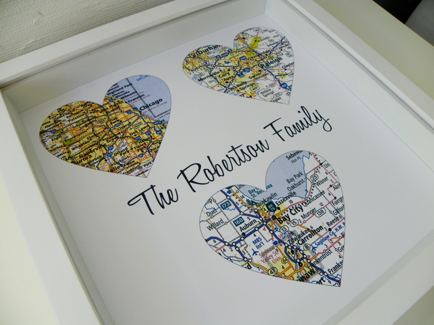 Wedding Gifts For Parents Personalized Map Art