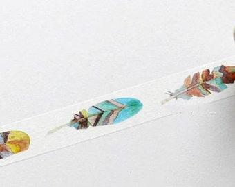 Feather Washi Tape (7M)