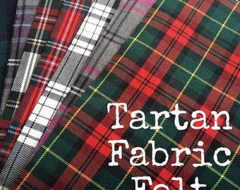 Tartan Fabric Felt SHEET 25cm x 30cm