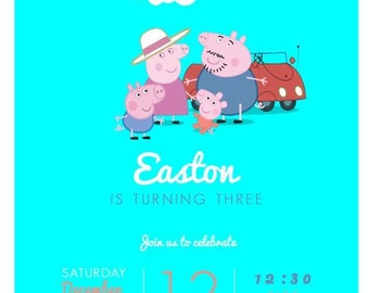 Peppa Pig and Family Invitation
