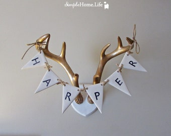 Custom Clay Bunting - An Original - Choose Your Name or Word-Wall Art,Photo Prop,Wedding & More