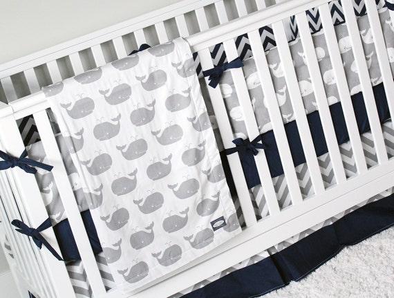 nautical boy crib bedding whale nursery set baby bedding