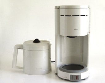 Braun Thermosteel Coffee Maker KF 74 Type 3090 with Aromaster Tea Filter Accessory