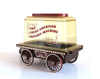 Great American Popcorn Machine Sunbeam Popcorn Popper Wagon Cart Cat. No. 18-90 Service No. 18-2A