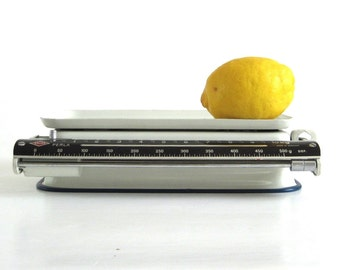 Metal Kitchen Scale Krups Perla 10 kg, Grams Scale, Made in Germany, Food Photography Prop, White (as-is)