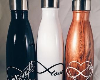 Custom Infinite Love Swell Bottle -Wedding, Christmas, Anniversary, Valentine's Day Swell Bottle
