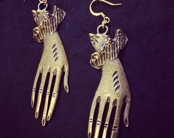 Long Hand Earrings