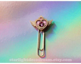 Sailor Moon Crisis Moon Compact Paperclip for Magical Girl, Mahou Kei, Planners