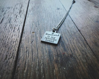 Rescued is my favorite breed necklace