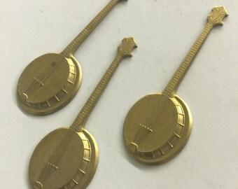 Vintage Banjo Musical Instrument (2 pc)