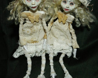 art dolls, sisters