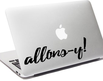 Allons-y! - Tenth Doctor - Vinyl Decal