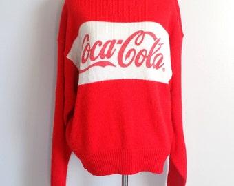 Vintage Coca Cola Sweater - RARE - Coke Sweater - Coca Cola Logo Sweater