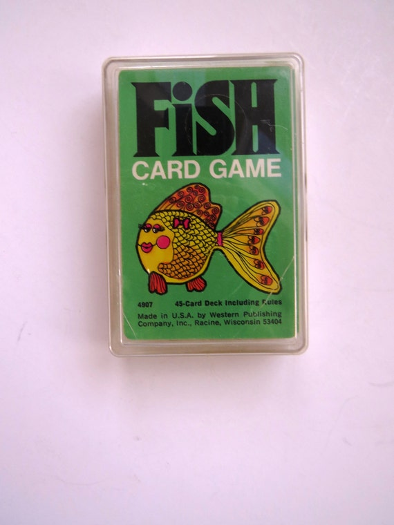 Go fish card game playing cards by western publishing 1975 for Fish card game