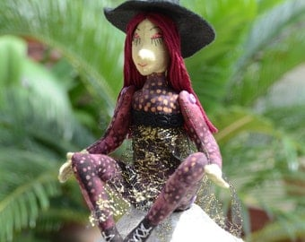 Halloween Witch Art Doll OOAK Maeva