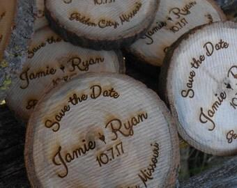 SAVE THE DATE Fridge Magnets, Wood Rounds. Weddign Invitations. Laser Cut, Monogram, Letter, Engraved