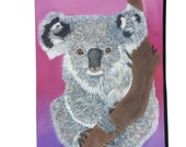 Koala Bear Pouch with detachable strap - Salvador Kitti- From My Original Painting,   Support Wildlife Conservation, Read How