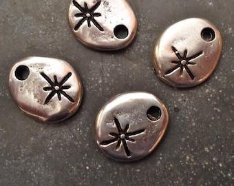 Silver Starburst Pendants