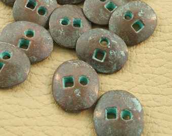 Copper Patina Buttons