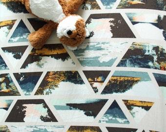 Little Wanderer Crib Sheet, Travel, Baby Boy or Baby Girl Toddler Bedding, Wander, Get Lost Traveling Traveler, Custom design, Nursery Decor