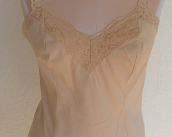 Vintage Camisole Olga 925 Size Small Beige Cappuccino