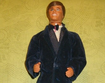 Mattel Ken Doll with Suit Tux Outfit, Marked Taiwan 1968, No Shoes