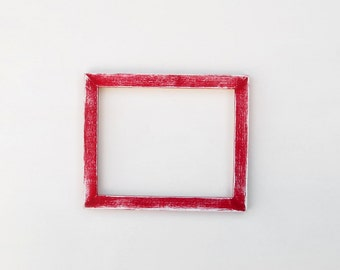 Distressed red frame - 8x10 handpainted picture frame, bright red