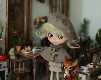 Miss yo 2016 Summer & Autumn - Little Cloak / Cape for Blythe doll - dress / outfit - Twill