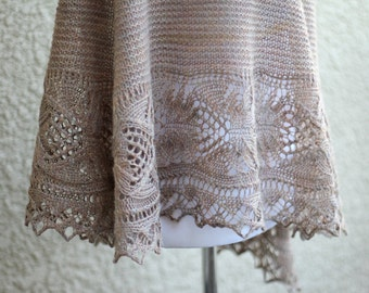 Knit shawl, wedding shawl, bridesmaids shawl, lace shawl, knitted wrap gift for her