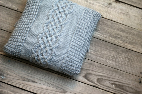 Knitting Pattern Central Pillows : Knitting pattern knitting tutorial aran pillow case cabled