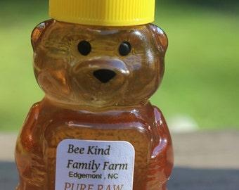 TEN Pure Raw Honey Summer  Harvest 2 oz Mini Bears Free SHipping