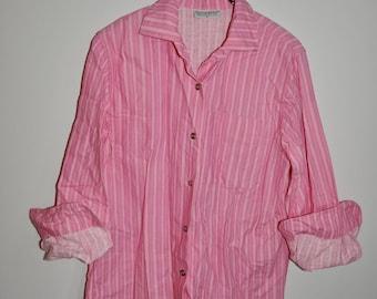 Vintage Marimekko Cotton Dress PINK Jokapoika Finland Vintage Textile