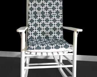 Rocking Chair Cushion - Gotcha Charcoal, Ready to Ship
