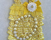 baby ruffle romper 1st Birthday outfit yellow infant sunshine birthday outfit baby couture outfit 1st birthday baby coming home yellow dress
