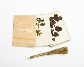 HERB PRESS - wood leaves flowers and plants press for herbarium - HERB073