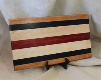 Cherry, Maple, Padauk and Wenge Hardwood Cutting Board or Carving Board