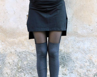 Sheer Women Leggings, Lace Leggings, Grey Leggings, Funky Leggings, Cut Out Leggings, Goth leggings