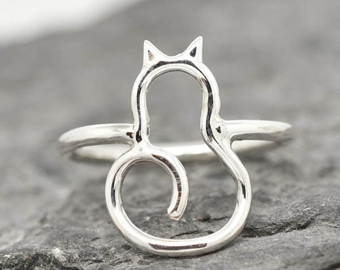 Cat Ring, Cat Jewelry, Cat Accessories, Kitten Ring, Kitty Ring, 925 Sterling Silver, Animal Ring, Animal jewelry, Kids Ring, Kids Jewelry