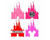 Disney Castle Svg, Princess Svg, Princess Castle Svg, Monogram Svg, Disney Svg, Minnie, Magic kingdom, Svg Files