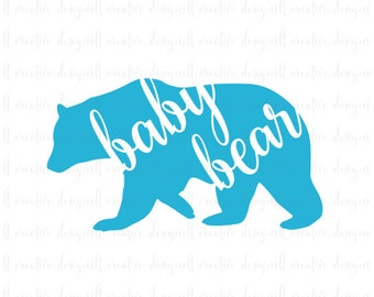 Baby Bear SVG, Baby Bear, SVG File, Baby SVG, Cricut Files, Silhouette Cut Files, T- Shirt Designs