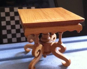 Chess Table,Dollhouse Table,Convertible Lamp Table, Lt.Oak Color