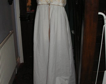 Vintage inspired Elegant White Cotton Nightgown with Embroidered Tulle Panels - Quality Handmade Vintage Inspired Clothes by Petticoat J