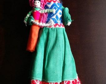 Traditional Mexican Cloth Doll - Folk Art