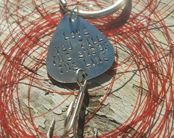 Personalized Fishing Lure Keychain Gift/Groom/Father of the Bride/Groomsmen Gift