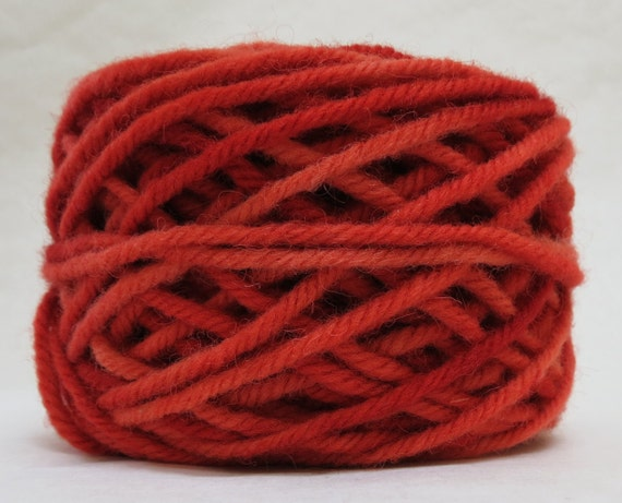 SAFFRON, 100% Wool, 2 oz. 43 yards, 4-Ply, Bulky weight or 3-ply Worsted weight yarn, already wound into cakes, ready to use, made to order.