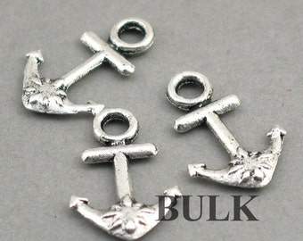 Anchor Charms BULK order Antique Silver 40pcs pendant beads 13X20mm CM0330S